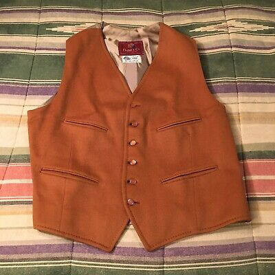 DUNN CO great Britian Wool Vest Vintage Mens MEDIUM