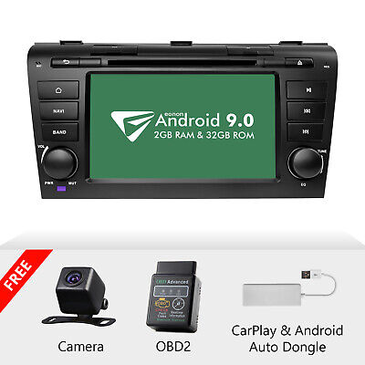 "CAM+OBD+CarPlay+For Mazda 3 04-09 Android 9.0 7"" Car Stereo GPS Radio DVD Player"