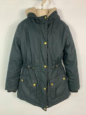 Girls Blue Zoo Black Winter Padded Parka Parker Hood Coat Jacket Kid Age 12 Year