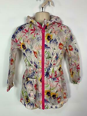 Girls Mini B Multi Colour Light Weight Hooded Jacket Raincoat Kids Age 5/6 Years