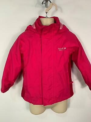Girls Regatta Pink Casual Winter Padded Hood Jacket Raincoat Kids Age 3/4 Years