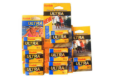 7pcs Kodak GOLD ULTRA 400 ASA ISO Various Color Films 24exp and 36exp Expired