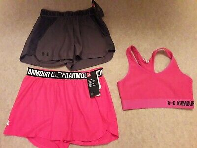 Girls Under Armour Shorts (New - Still Tagged) And Top