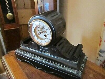 Antique French Open Escarpment Mantel Clock - Completely Overhauled.