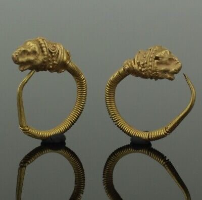FABULOUS ANCIENT GREEK GOLD EARRINGS - 4th-1st Century BC    921