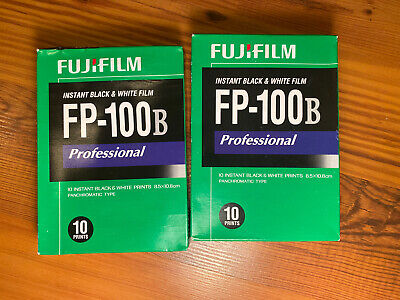 One Fujifilm FP-100B 3.25 X 4.25 inch Black and White Professional Instant Film