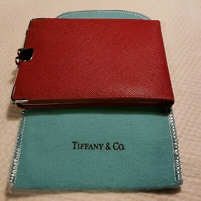 Vintage Tiffany & Co.red Leather Notebook Made In France Nos