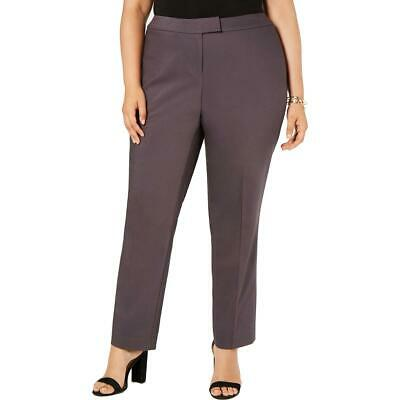 Anne Klein Womens Comfort Waist High Rise Dress Pants Trousers Plus BHFO 5668