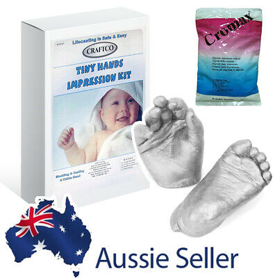 Plaster Handprint & Footprint Baby Mould Casting Kit - 100% SAFE Mold Alginate