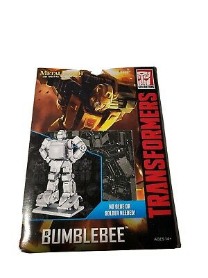 Fascinations Metal Earth Model Kit Transformers Bumblebee silver