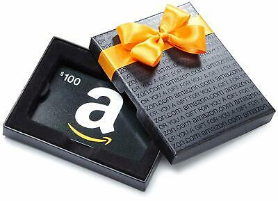 AMAZON Gift Cards - $100, NEW, free ship physical.card (ClassicBlack in giftbox)