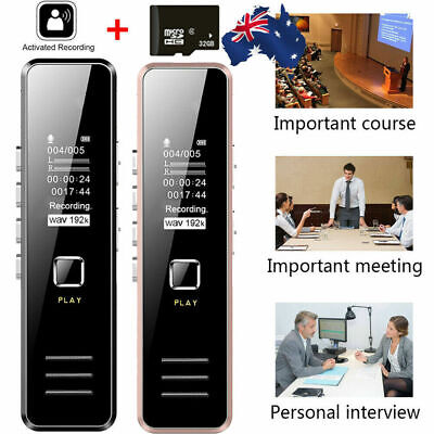 32GB Rechargeable Digital Sound Audio Voice Recorder USB Recording MP3 Player