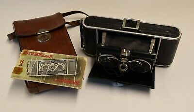 Stereo Camera Sterelux camera by Lumiere w. Anastigmat Lumiere Nacor 6,3/80mm