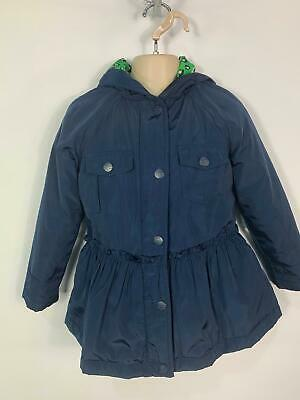 Girls Next Navy Blue Casual Light Weight Hood Rain Coat Jacket Kids Age 6 Yrs