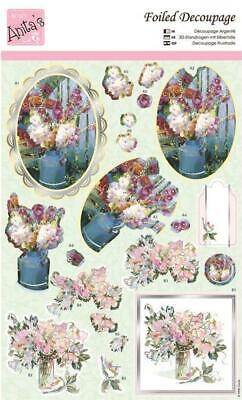 Docrafts Anita/'s A4 Foiled Decoupage Choice of 8