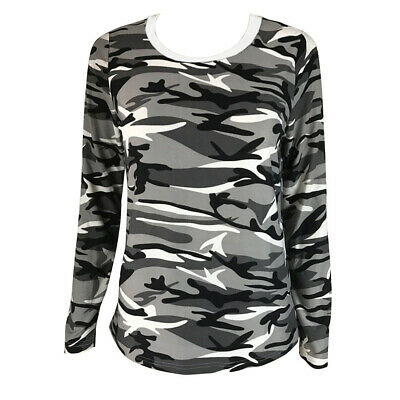 Girls T-shirt Camouflage Army Camo Military Sports School Kid Relax Shirt Top UK