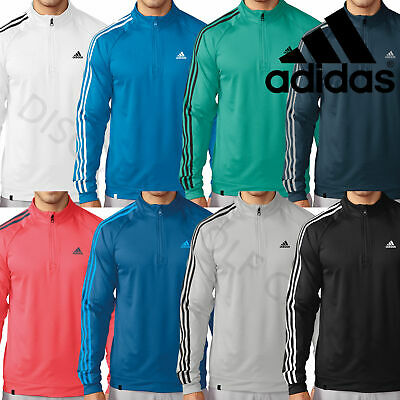 Adidas Golf 3-Stripes 1/4 Zip Mens Performance Sweater Jacket Pullover