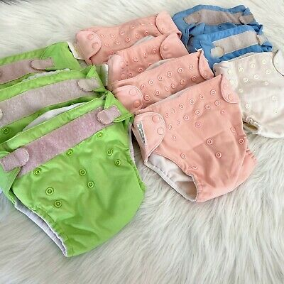 Bumgenius 1 Size Pocket 10 Cloth Diaper Cover Lot Pink Green Blue Need Elastics