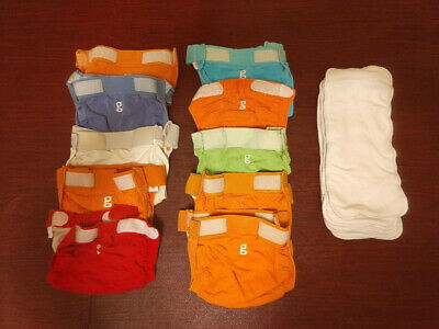 gDiapers Cloth Diapers Size Medium- Lot of 10