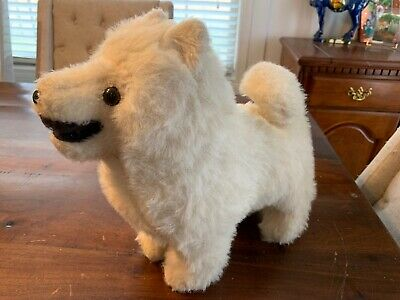 "Vintage Samoyed Dog Plush 1976! Rare Samoyed 12"" Stuffed Dog AKC Artic Breed"