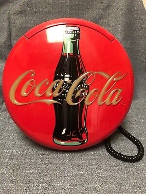 Vintage Coca Cola Retro Corded Stand Up or Wall Mount Telephone red 1996