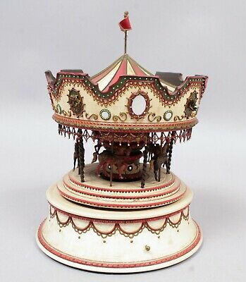Superb One of a Kind Brilar 1974 Carousel Music Box by Keith Brian Staulcup