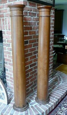 Pair Antique Architectural Southern Pine Porch Columns Posts Pillars Restored