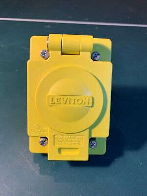 LEVITON 69W74 Receptacle w/ Wetguard IP66 Cover 30A, 125/250V 4W Industrial