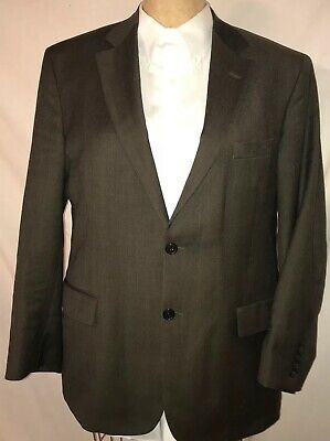 Brooks Brothers 346 Stretch Mens Sports Coat 43R BROWN Jacket Blazer 2 Button