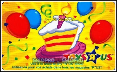 Toysrus Happy Birthday Baby 1 Year Red & Blue Balloon Collectible Gift Card