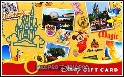 Disney World 2011 Usa 40Th Anniversary Collage - Right Collectible Gift Card