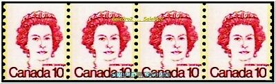 4x CANADA 1976 QUEEN ELIZABETH MINT FV FACE 40 CENT MNH STRIPE TAGGED STAMP LOT
