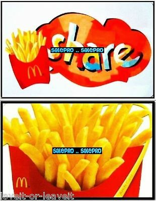 2x McDONALD 2012 SHARE FRESH CRUNCHY FRENCH FRIES COLLECTIBLE GIFT CARD LOT