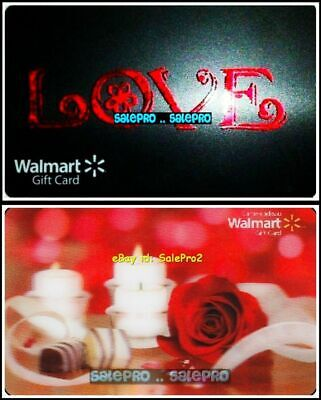 2x WALMART MOTHER'S DAY LOVE CANDLE ROSE 3D LENTICULAR COLLECTIBLE GIFT CARD LOT