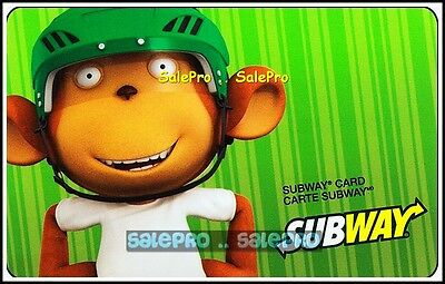 Subway 2011 Happy Monkey Limited Edition Rare Bilingual Collectible Gift Card