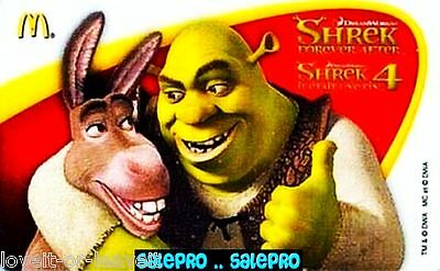 McDONALD 2010 THE SHREK HAPPY EVER AFTER SCARCE BILINGUAL COLLECTIBLE GIFT CARD