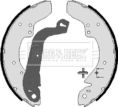 FIAT DUCATO 290 2.5D Brake Shoes Rear 89 to 94 Set B&B 5882466 5888146 946560