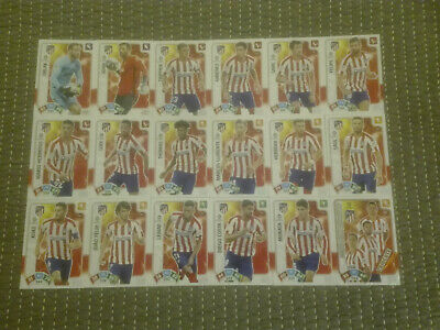 Set Completo Atletico De Madrid 18 Cards Básicas - Adrenalyn Xl Liga 2019 2020