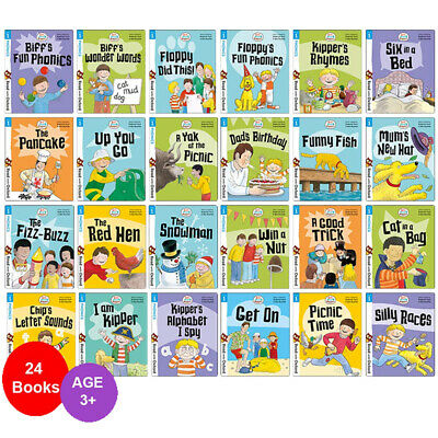 Biff, Chip and Kipper Stage 1 Read with Oxford: 3+: 24 Books Collection Set NEW