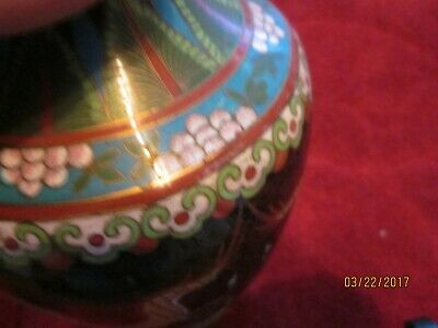 early 20th century Antique or Vintage Chinese Cloisonne Vase, very detailed