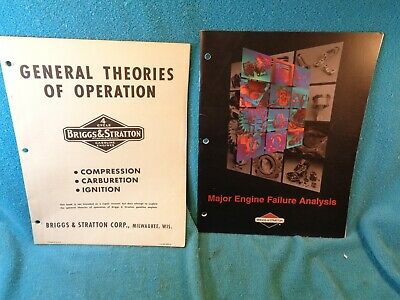Briggs & Stratton Theories of Operation & Engine Failure Analysis Booklets Lot