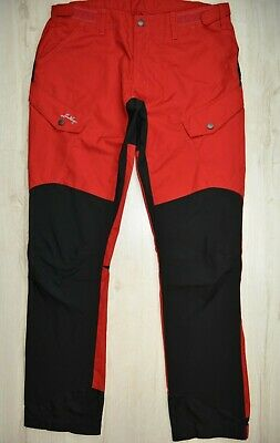 Lundhags Baune WS women pants in red, size L, UK 14, excellent condition