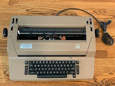 IBM Selectric II Correcting Typewriter Beige with Cover - Good Working Condition