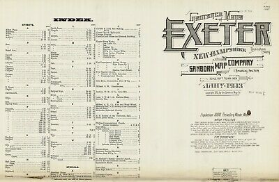 Exeter, Pennsylvania~Sanborn Map©sheet~29 maps 1885 to 1913 in full color on CD