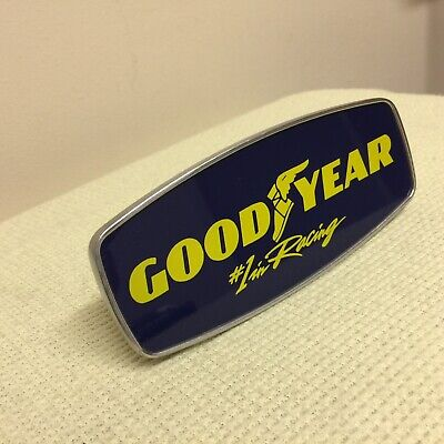 Rare VTG Goodyear Tire Metal Trailer Hitch Cover Plug • Good Year # 1 In Racing