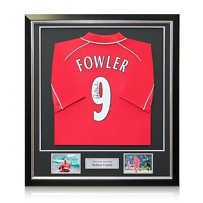 Framed Robbie Fowler Back Signed 2001 Liverpool Jersey | Autographed Football