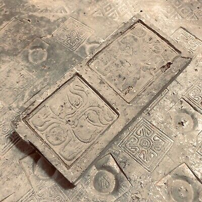 Ancient Chinese brick relief piece cut from Tomb Brick  dated from Han Dynasty