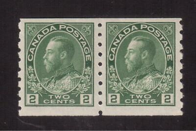 """Canada 1912 Mint F-Vf Nh Pair #128, King George V """"Admiral"""" Coil Issue !! A112"""