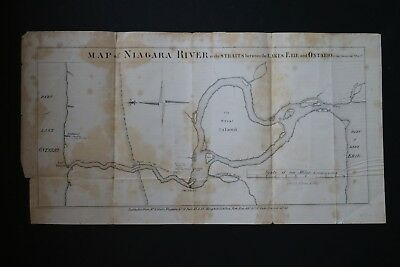 Map of Niagara River 1849 by Geo. Dember and R. H. Pease Lithographers Albany