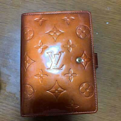 Auth LOUIS VUITTON Agenda PM Day Planner Cover Monogram Vernis R21004 #3722Q